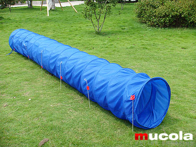 nylon spieltunnel f r hunde agility tunnel 500x60cm ebay. Black Bedroom Furniture Sets. Home Design Ideas