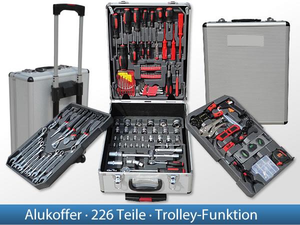 226-tlg-Werkzeugkoffer-Werkzeugkiste-Werkzeugkasten-Werkzeugbox-Werkzeuge
