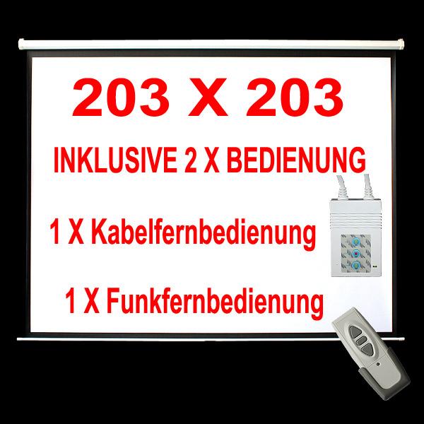 203X203CM-Motor-Leinwand-Beamer-Heimkino-Beamerleinwand-Rolloleinwand-Projektor