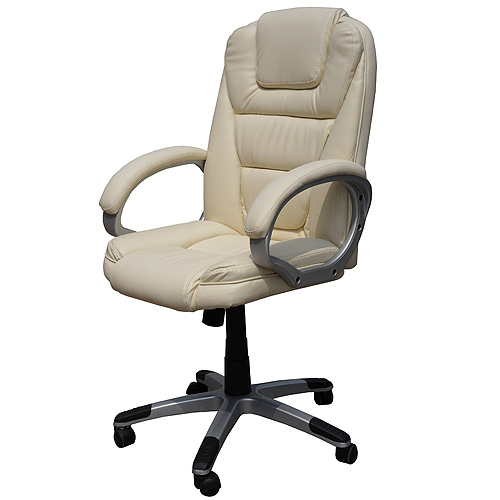 leder b rosessel drehstuhl chefsessel b rostuhl stuhl schreibtischstuhl beige ebay. Black Bedroom Furniture Sets. Home Design Ideas