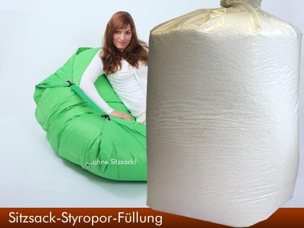 400 liter eps styropork gelchen sitzsack f llmaterial kissen f llung sitzkissen ebay. Black Bedroom Furniture Sets. Home Design Ideas