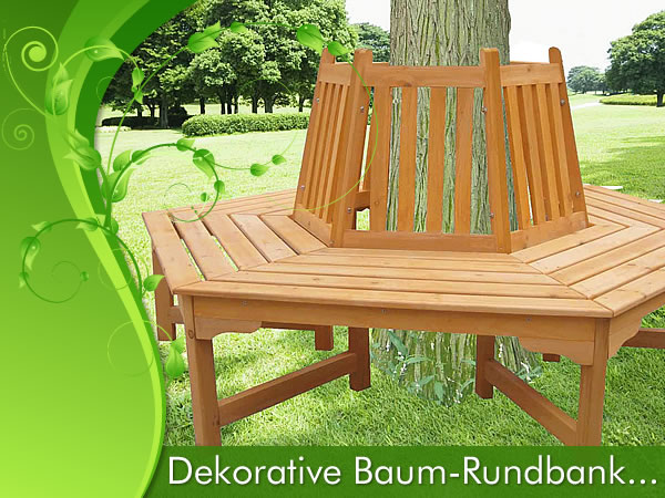 Round Circular Wooden Tree Bench Outdoor Garden Furniture: circular tree bench