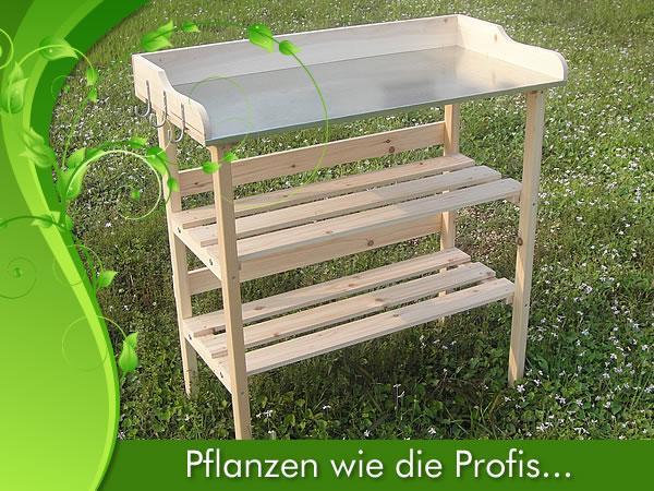 Pflanztisch legno tavolo in legno tavolo da giardino tavolino da