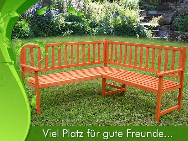 holz eckbank gartenbank sitzbank bank parkbank garten sitzgruppe ebay. Black Bedroom Furniture Sets. Home Design Ideas