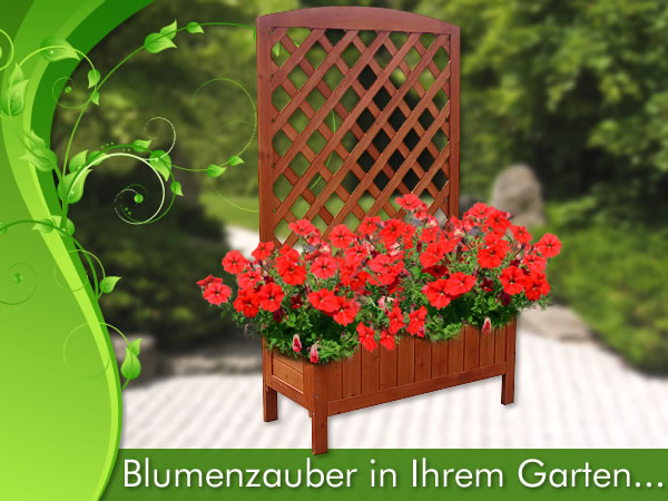 blumenkasten mit rankgitter holz gunstig. Black Bedroom Furniture Sets. Home Design Ideas