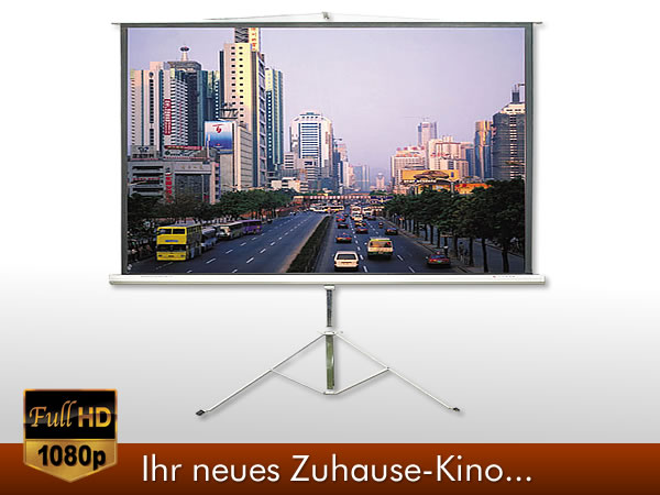 244x182 cm mobil beamer heimkino leinwand beamerleinwand 16 9 stativ st nder 3d ebay. Black Bedroom Furniture Sets. Home Design Ideas