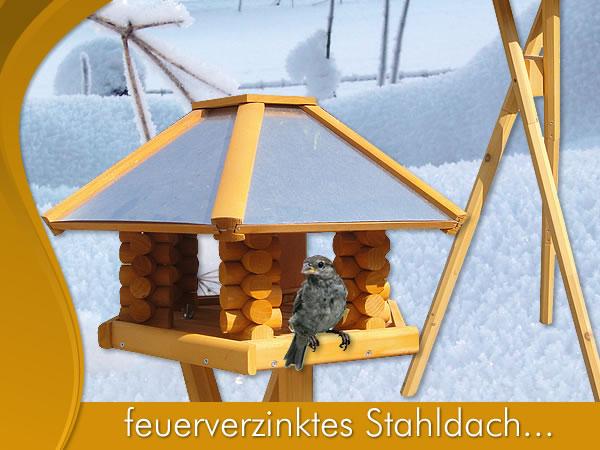 gro es vogelhaus vogelfutterhaus vogelh user vogelh uschen holz bunt vogelvilla ebay. Black Bedroom Furniture Sets. Home Design Ideas