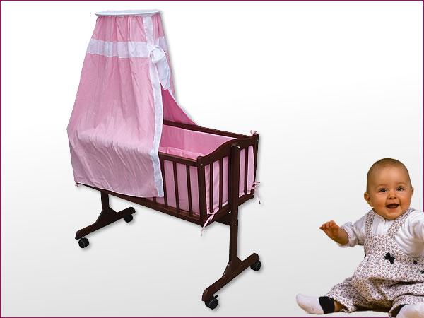 babywiege stubenwagen massivholz himmel matratze kissen. Black Bedroom Furniture Sets. Home Design Ideas