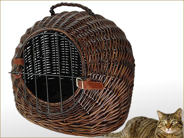 Katzenkorb-Weide-Transportkorb-Katzenbett-Katze-Korb-Hoehle-NEU