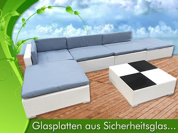 wei gartenm bel rattan lounge polyrattan sitzgruppe rattanm bel garten garnitur ebay. Black Bedroom Furniture Sets. Home Design Ideas