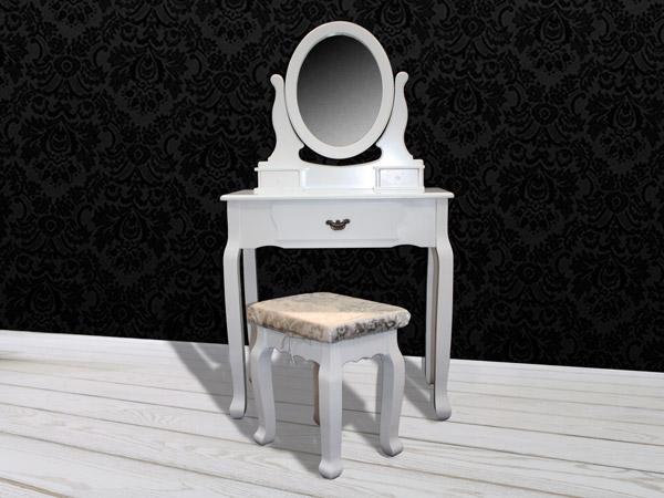 schminktisch hocker spiegel frisierkommode frisiertisch kosmetiktisch weiss ebay. Black Bedroom Furniture Sets. Home Design Ideas