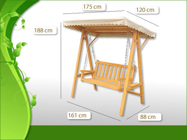 Hollywoodschaukel Holz Massiv ~ Massiv Holz Hollywoodschaukel Gartenschaukel Schaukel Bank inkl Dach