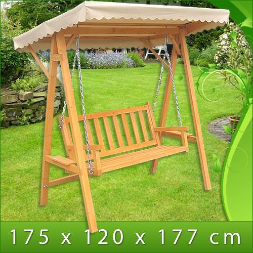Hollywoodschaukel Holz Massiv ~ Garten & Terrasse > Möbel > Hollywoodschaukeln