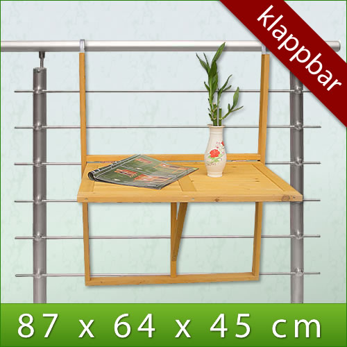 holz balkontisch klapptisch h ngetisch gartentisch wandtisch klappbar tisch balk ebay. Black Bedroom Furniture Sets. Home Design Ideas