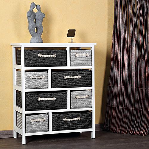 landhaus kommode schrank sideboard badschrank regal wei 8 k rben k chenschran ebay. Black Bedroom Furniture Sets. Home Design Ideas