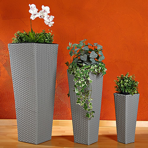 3x-Set-Rattan-und-Wasserhyazinthe-Blumentopf-Blumenkuebel-Planzenkuebel