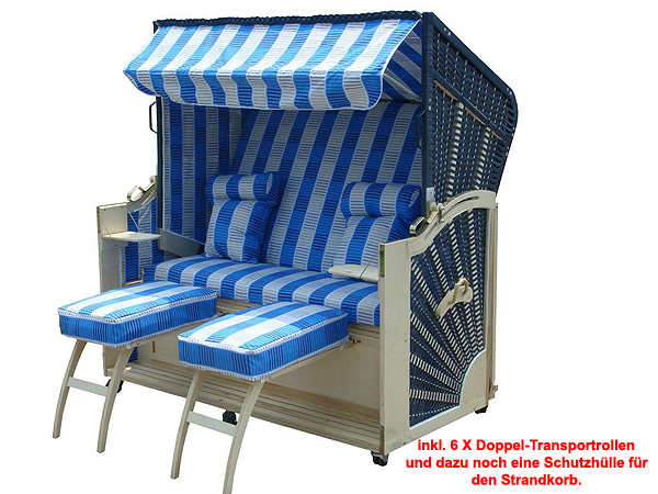 xxxl strandkorb 160cm gartenm bel strandk rbe garten 6 rollen ebay. Black Bedroom Furniture Sets. Home Design Ideas