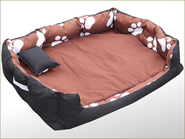3 pi ces xxl lit pour chien tierbett hundesofa coussin hundekorb marron patte wow ebay. Black Bedroom Furniture Sets. Home Design Ideas