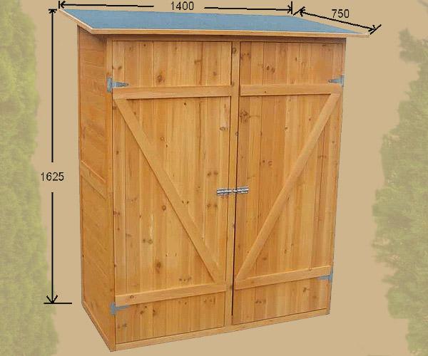 Casetta box da giardino in legno 162x140x75cm ebay - Armadio porta attrezzi da giardino ...