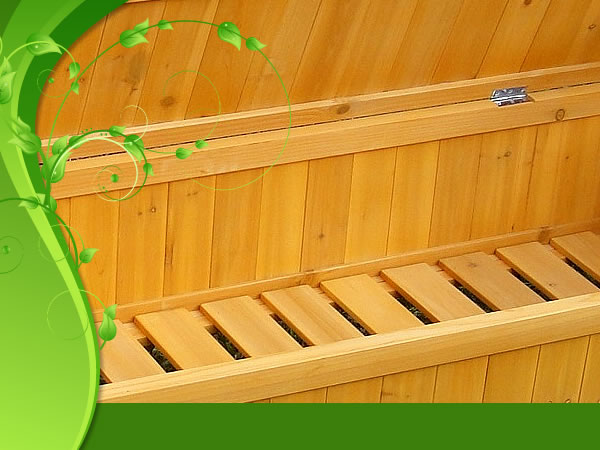 Cassapanca panca baule box in legno per esterno giardino for Cassapanca per balcone
