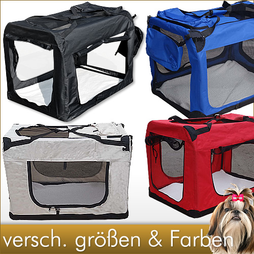 Faltbare-Transportbox-Tiere-Hundebox-Hundetransportbox-Hundetransport-Box-Hund