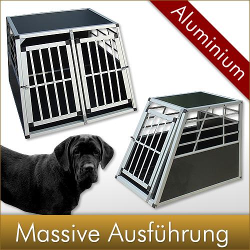 Massive-Aluminium-Hunde-Transportbox-Doppeltuer-Hundebox-Hund-Hundebox-Gitterbox