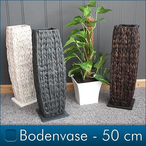 Bodenvase-Vase-Wasserhyazinthe-Handarbeit-Dekovase-Kunstblume-Blumenvase-FARBWAH