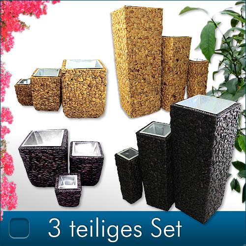 3x-XXL-Blumentopfset-Blumenkuebel-Pflanztopf-Blumentopf-Bodenvase-Wasserhyazinthe