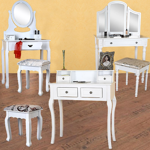 schminktisch hocker frisierkommode kosmetiktisch sekret r. Black Bedroom Furniture Sets. Home Design Ideas