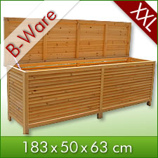b ware 2in1 holz bank auflagenbox kissenbox gartenbank gartenm bel ebay. Black Bedroom Furniture Sets. Home Design Ideas