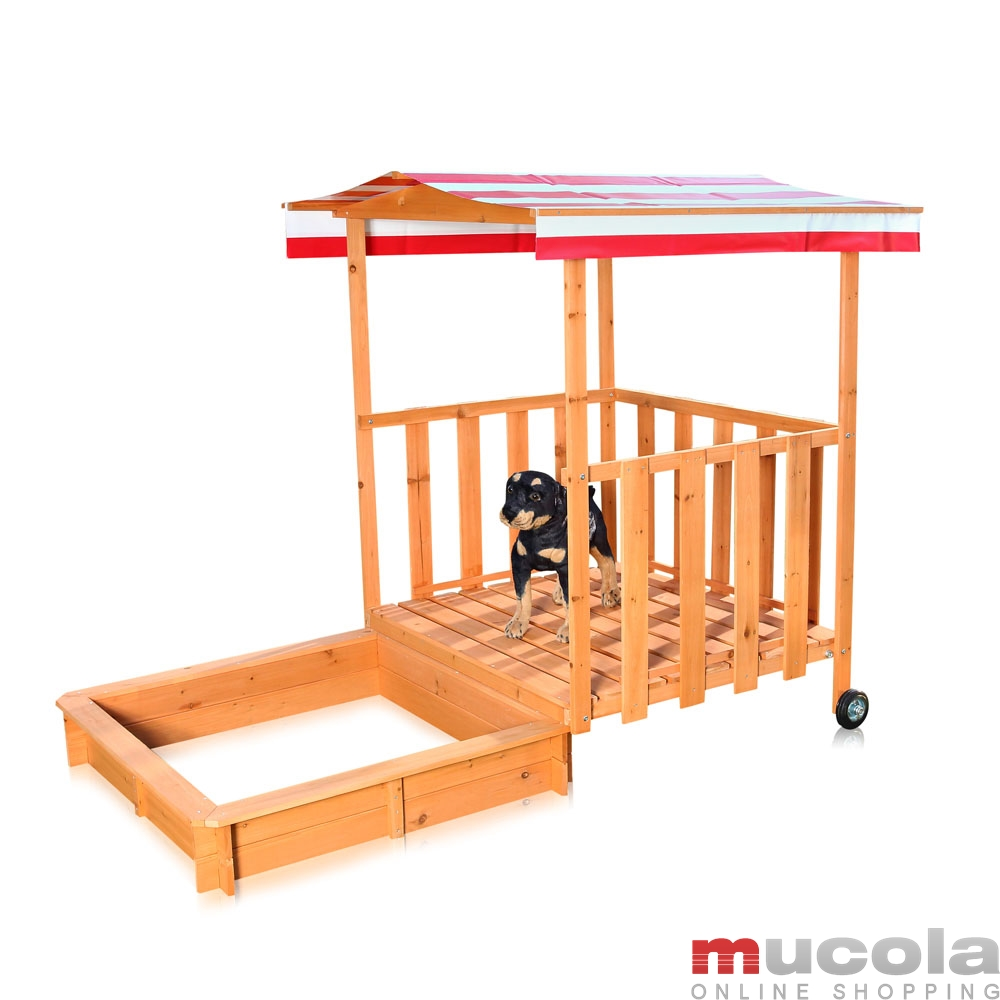 sandkasten spielhaus mit spielveranda sandbox sandkiste holz dach deckel m01 ebay. Black Bedroom Furniture Sets. Home Design Ideas