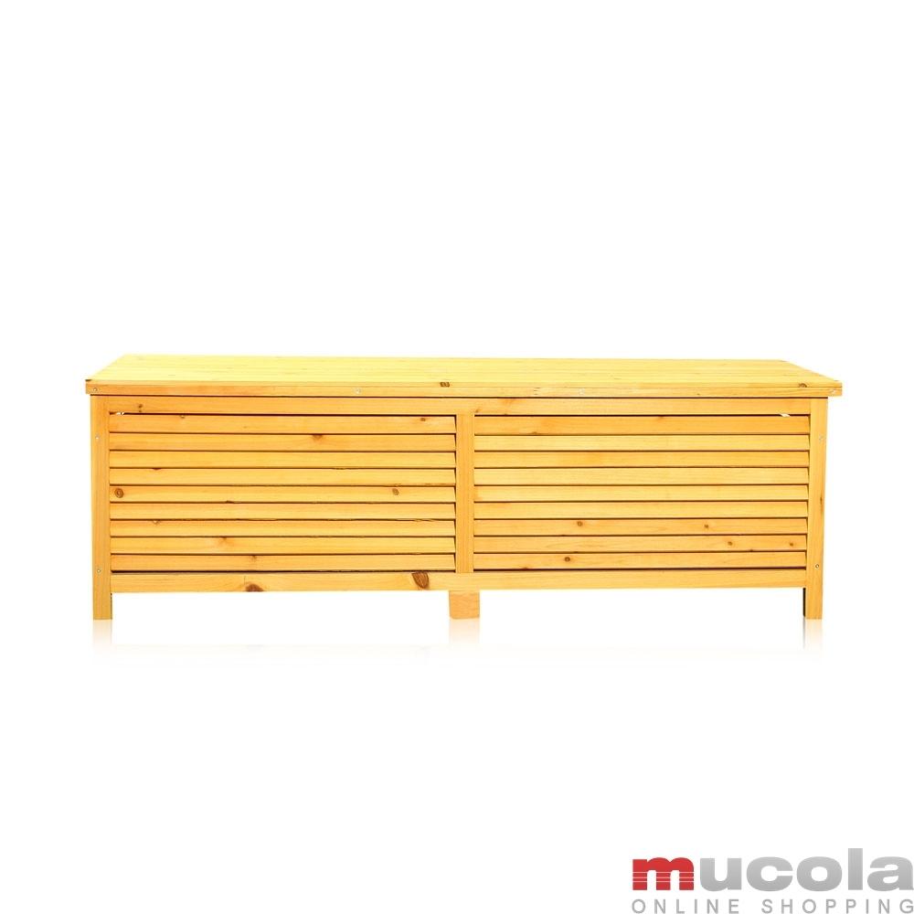 Gartentruhe holz auflagenbox kissenbox truhenbank for Banco arcon madera