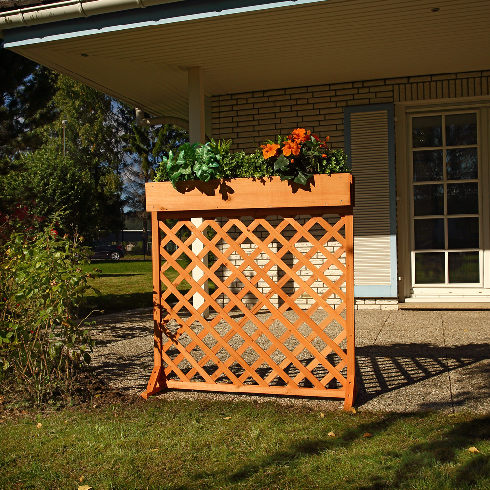 wooden flower trellis blind outdoor garden screen cover. Black Bedroom Furniture Sets. Home Design Ideas