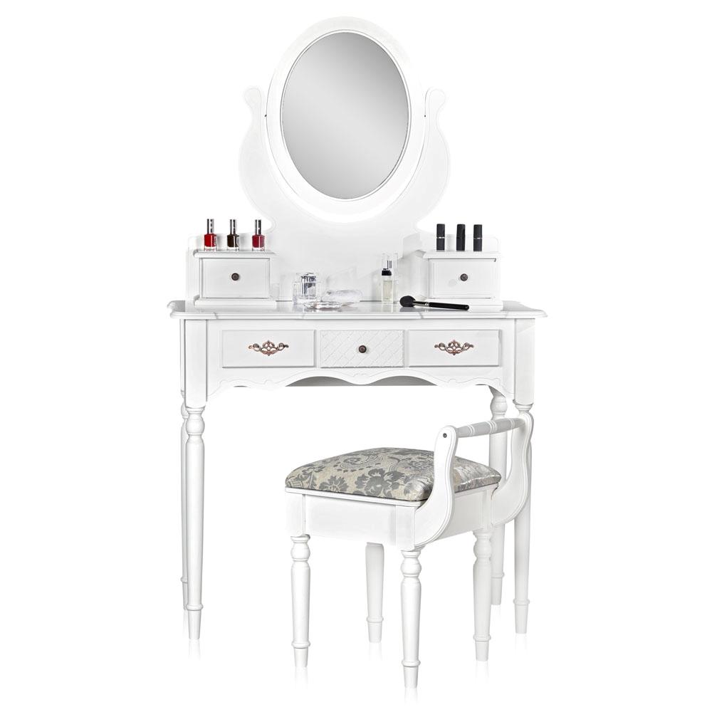 schminktisch mit spiegel und hocker frisierkommode schminkkommode wei barock e ebay. Black Bedroom Furniture Sets. Home Design Ideas