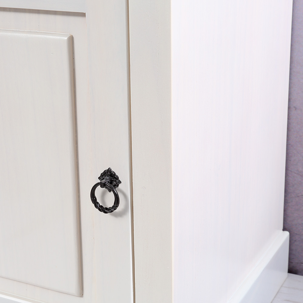 Nachtkonsole Schrank Schlafzimmer Weiß aus Holz mit ...