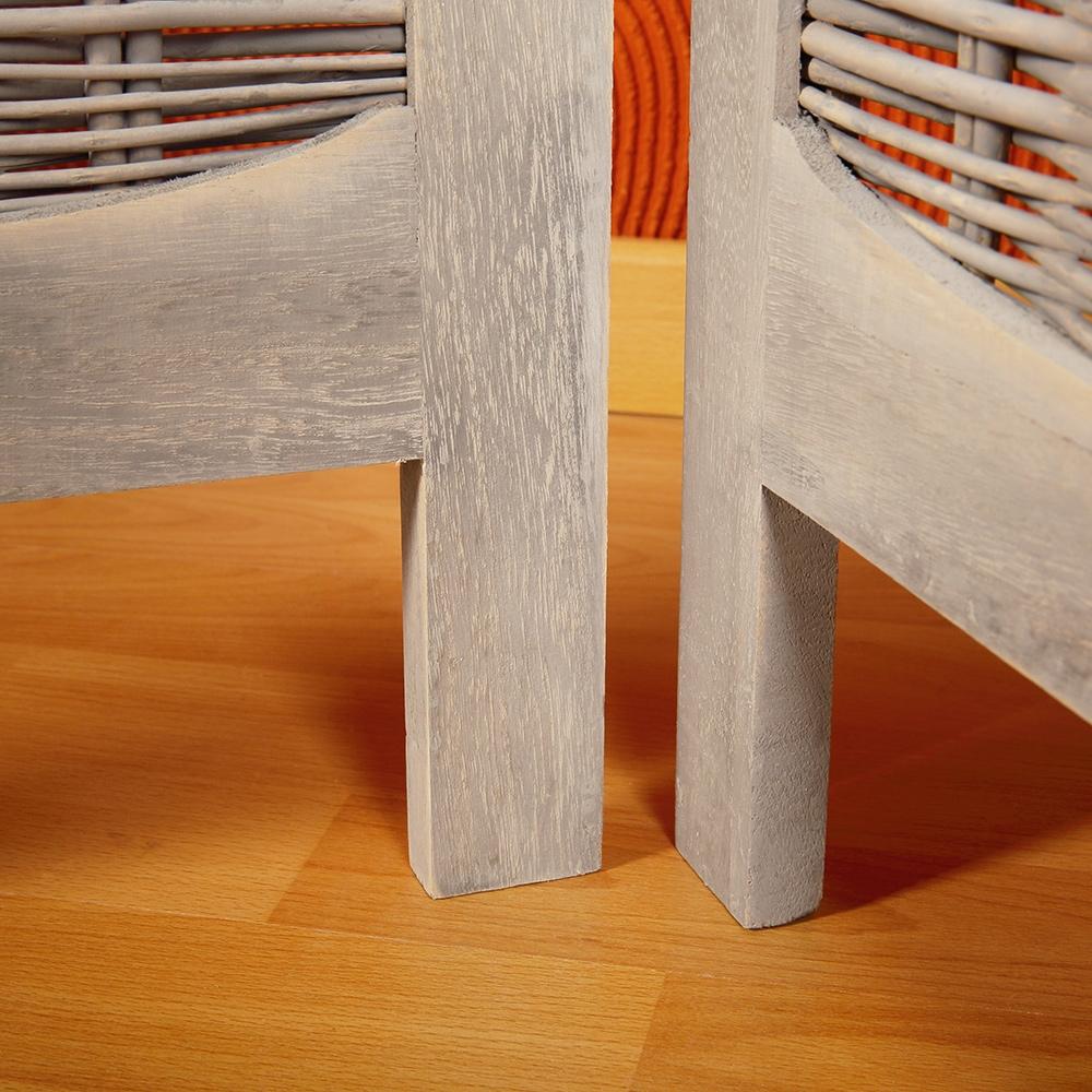 paravent vintage stil holz stoff braun beige raumteiler. Black Bedroom Furniture Sets. Home Design Ideas
