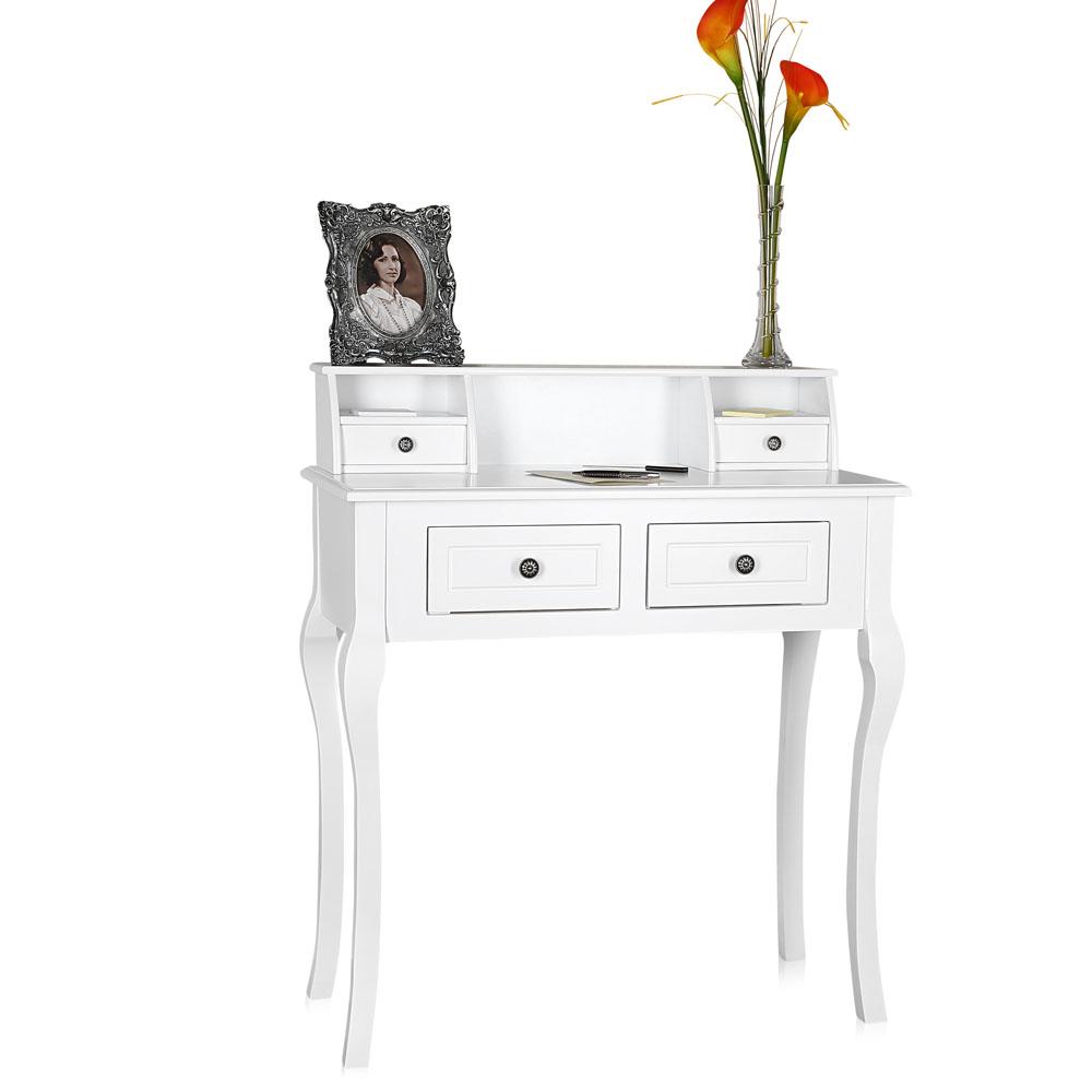 Com da toletta con sgabello specchio bianco tavolino da for Tavolino sgabello