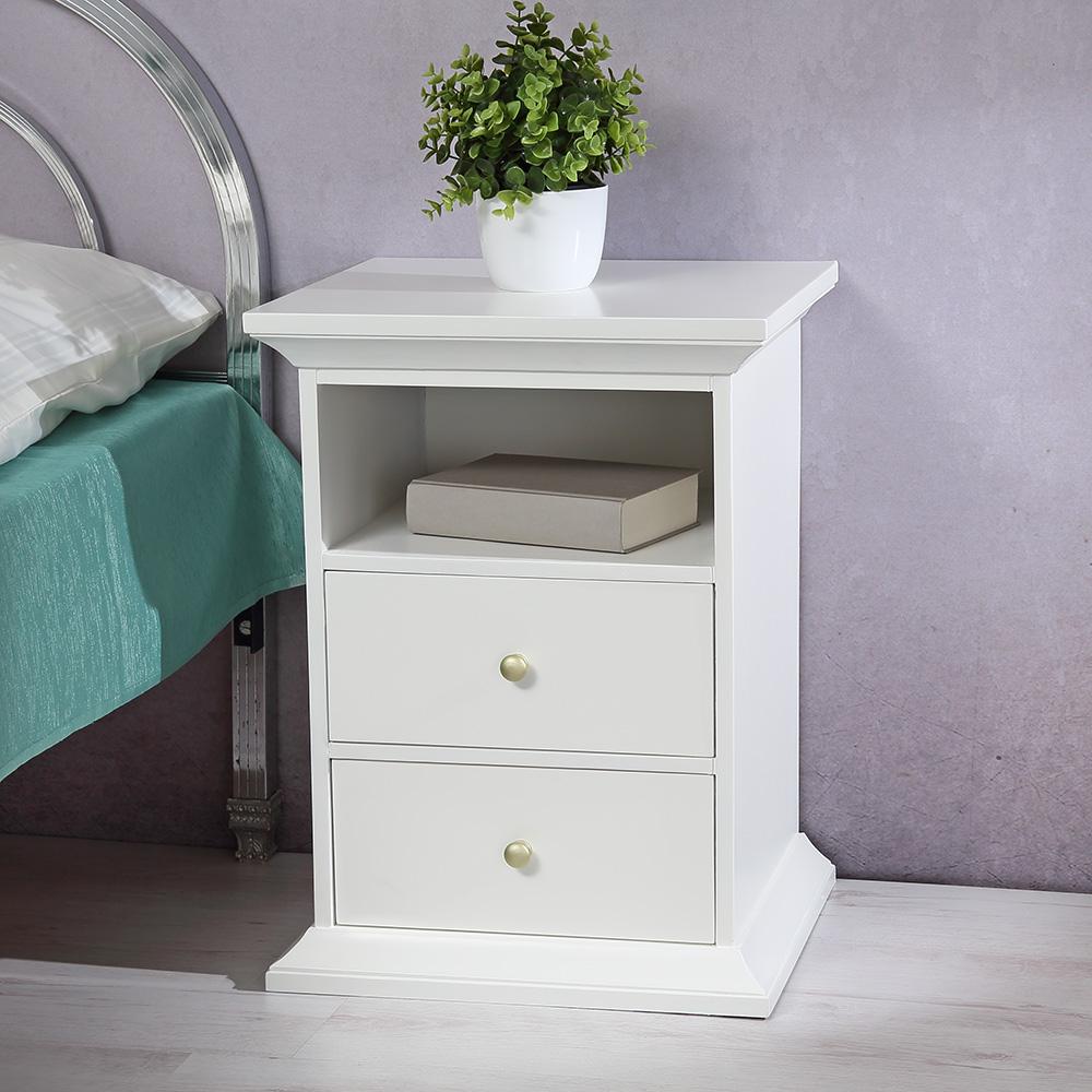 nachttisch nachtkonsole schrank schlafzimmer wei braun kommode landhaus vintage. Black Bedroom Furniture Sets. Home Design Ideas