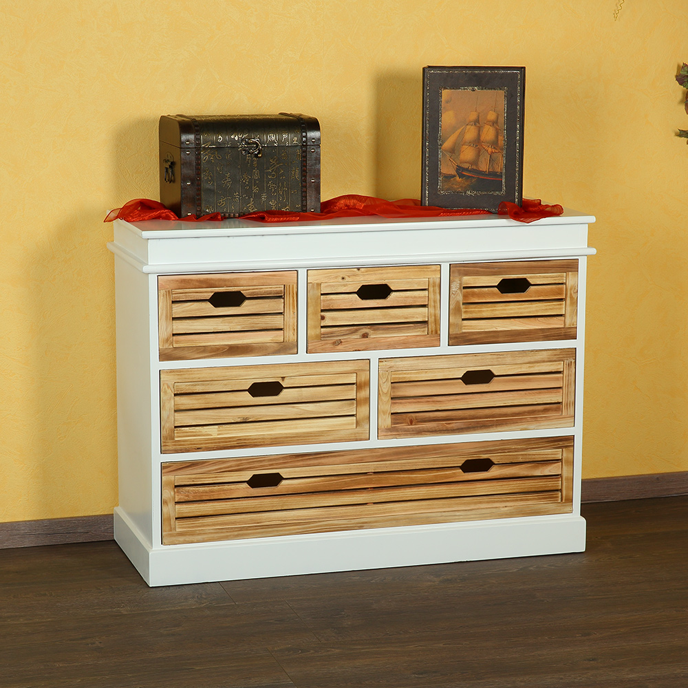 flurbank sitzbank m kissen wei braun kommode mit k rben schuhregal holz. Black Bedroom Furniture Sets. Home Design Ideas