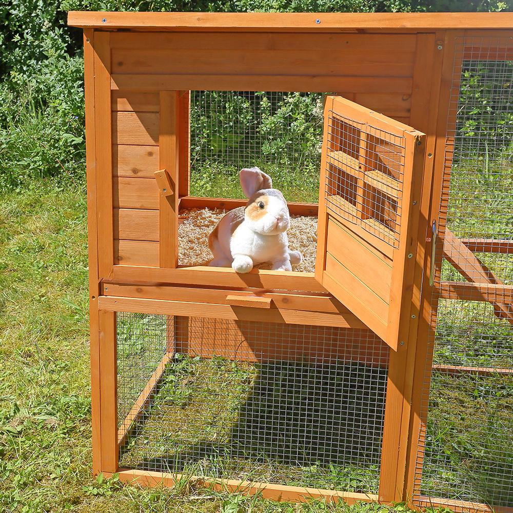 hasenstall hasenk fig freilauf gehege kaninchen stall k fig kleintier stall xxl eur 79 90. Black Bedroom Furniture Sets. Home Design Ideas