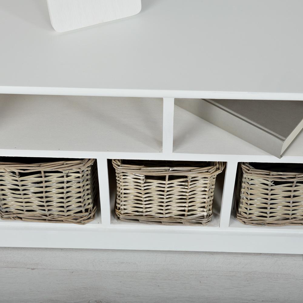 buffetschrank landhausstil wei flurkommode sideboard drei. Black Bedroom Furniture Sets. Home Design Ideas