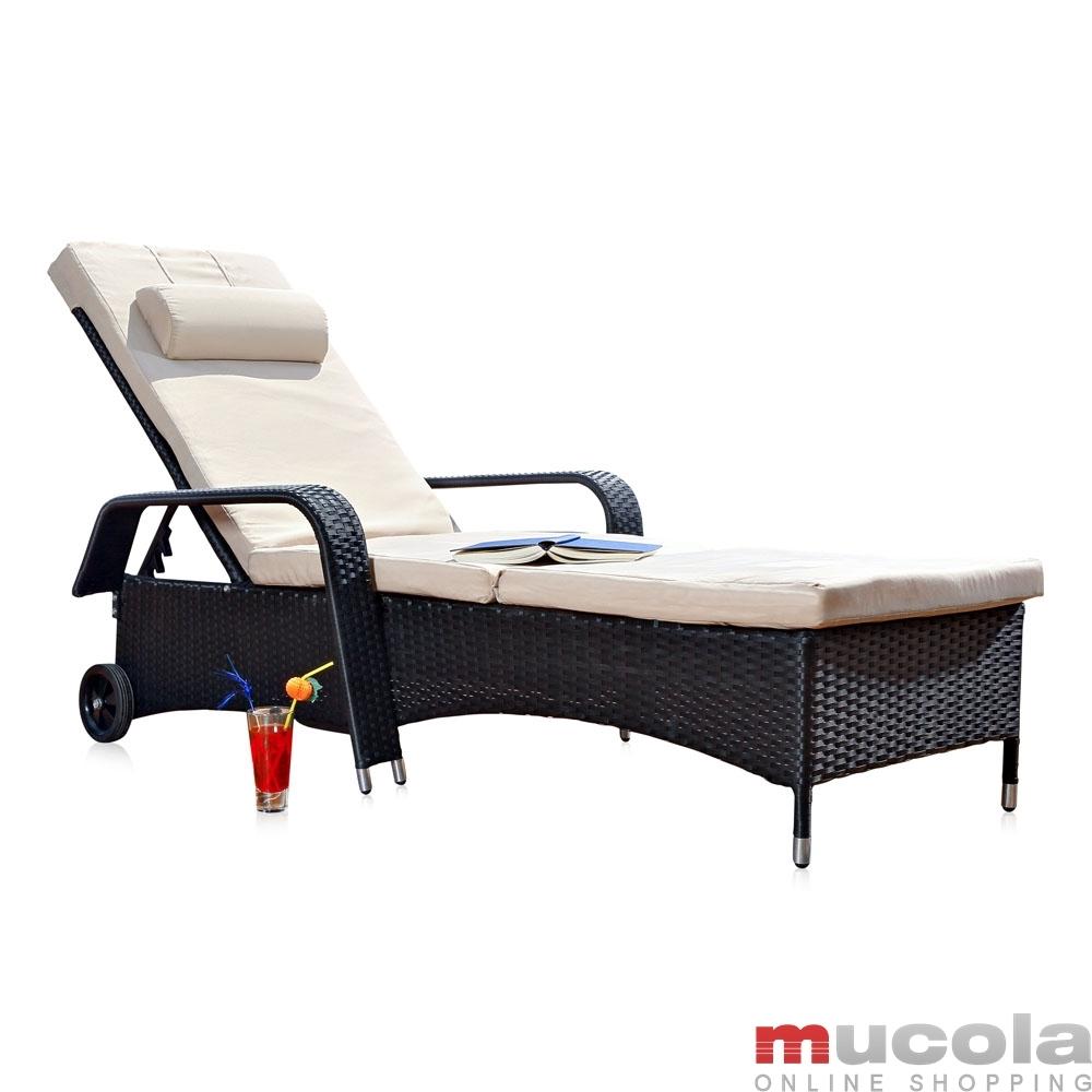 rattan loungeliege sonnenliege gartenliege relaxliege terrassenliege gartenm bel ebay. Black Bedroom Furniture Sets. Home Design Ideas