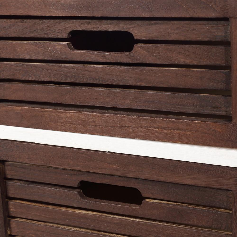 2 st ck nachttische nachtschrank in braun wei mit schubladen nachtkonsolen holz ebay. Black Bedroom Furniture Sets. Home Design Ideas