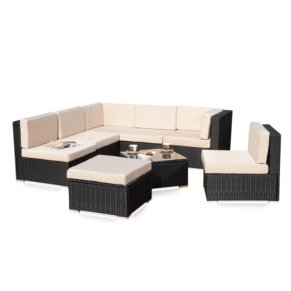 rattan sitzgruppe inspiration f r die. Black Bedroom Furniture Sets. Home Design Ideas