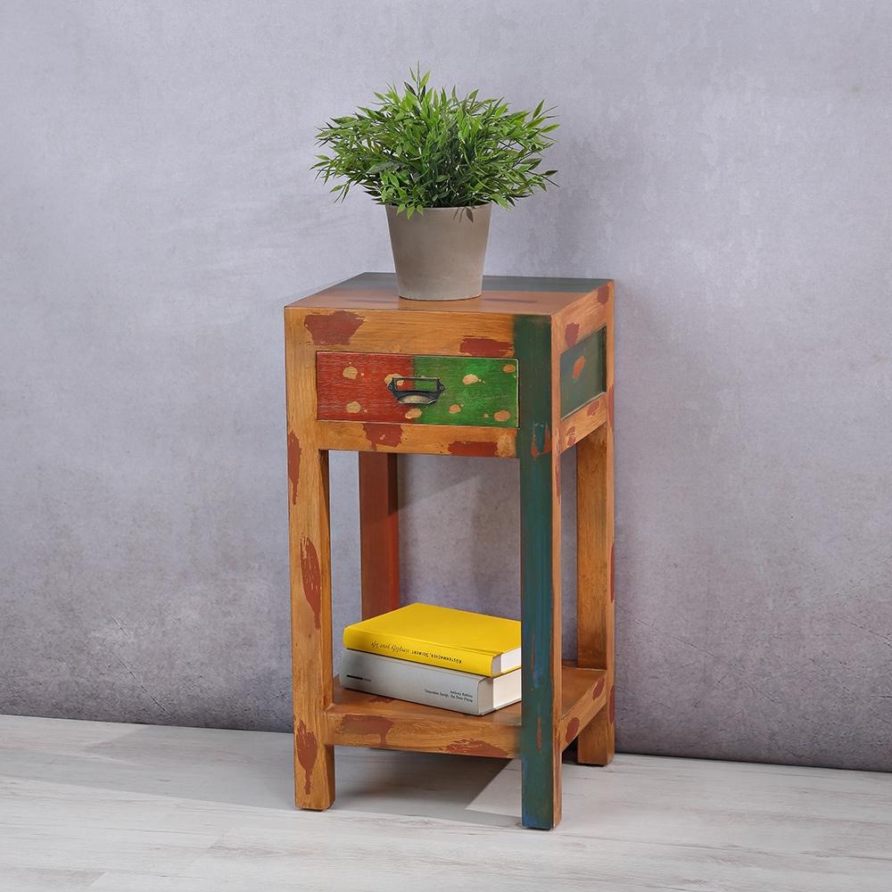 kommode nachtkonsole beistell schrank betttisch telefontisch antik shabby tisch ebay. Black Bedroom Furniture Sets. Home Design Ideas