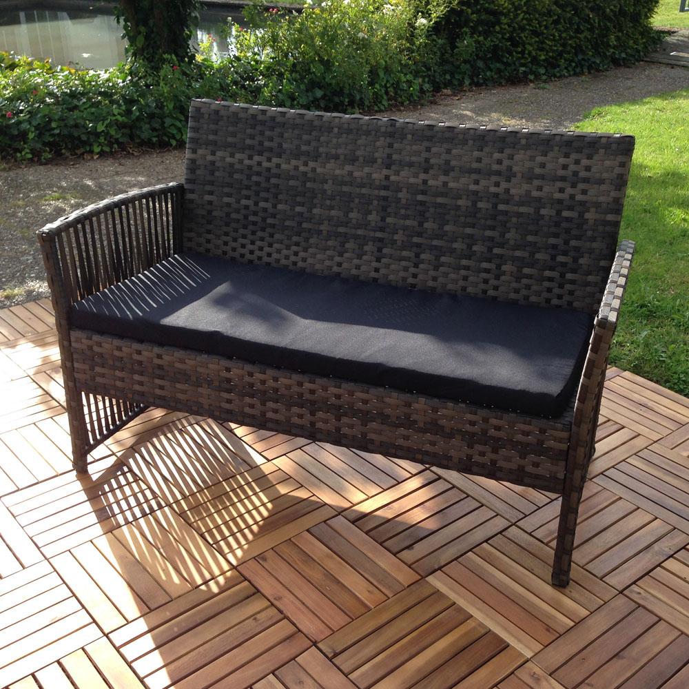 sitzgruppe polyrattan gartenlounge 4 tlg set sitzgarnitur gartenm bel sitzecke f ebay. Black Bedroom Furniture Sets. Home Design Ideas