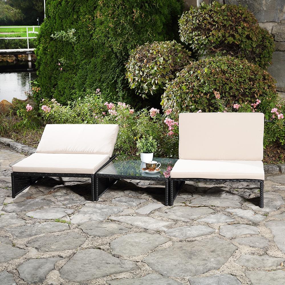 sitzgarnitur 2 sessel tisch gartenset gartenm bel lounge. Black Bedroom Furniture Sets. Home Design Ideas