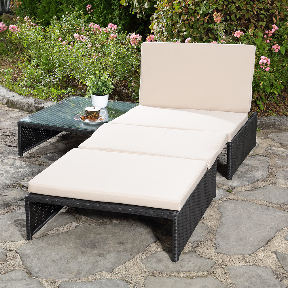 sitzgarnitur 2 sessel tisch gartenset gartenm bel lounge poly rattan grau ebay. Black Bedroom Furniture Sets. Home Design Ideas