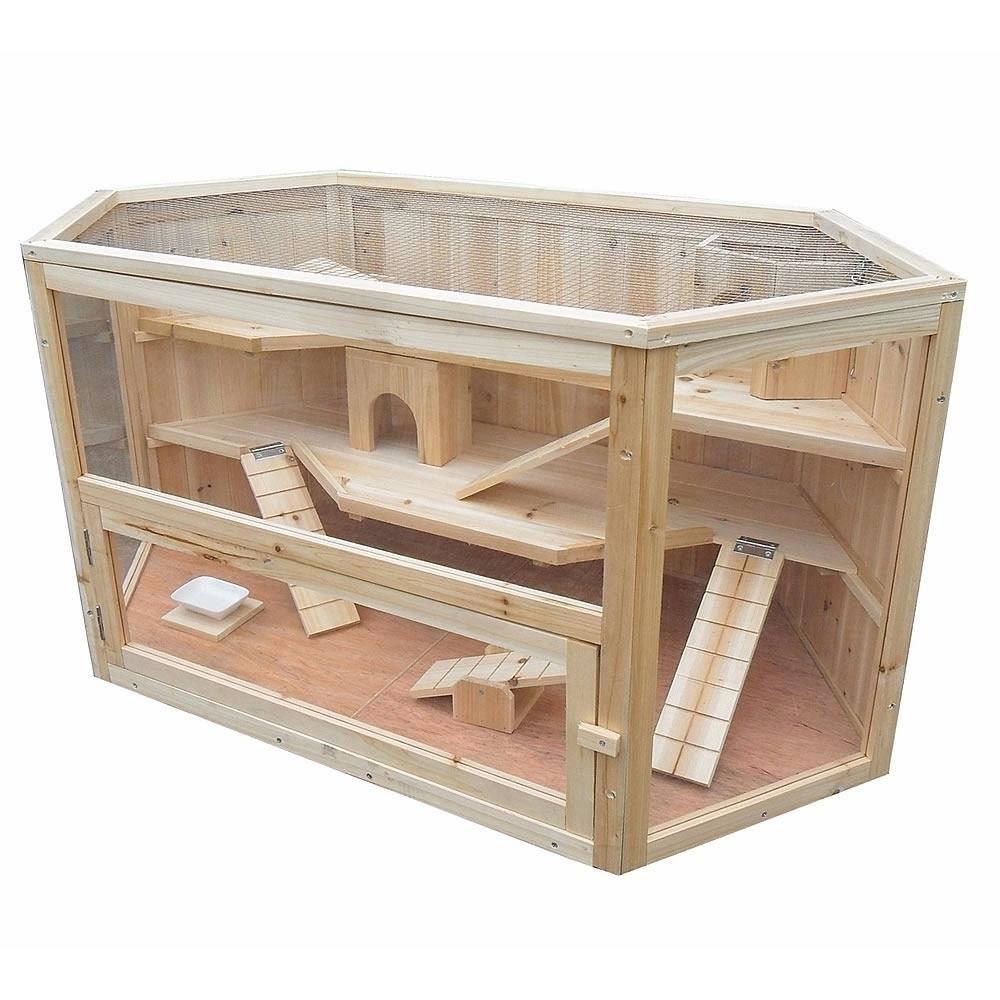 kleintier stall nager k fig holz hamster m use ratten nagerk fig gehege ebay. Black Bedroom Furniture Sets. Home Design Ideas