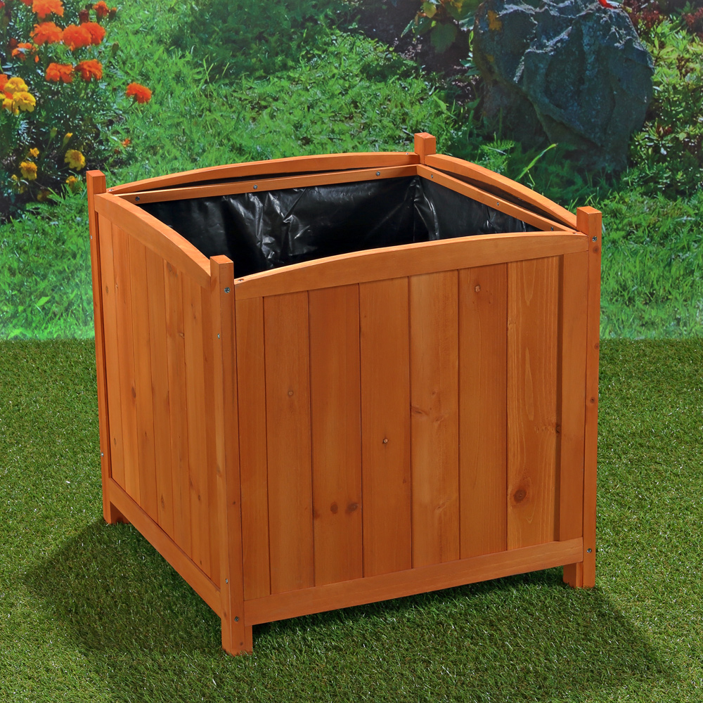 2er set pflanzkasten garten blumenk bel aus holz eckig blumentrog bertopf 50cm ebay. Black Bedroom Furniture Sets. Home Design Ideas